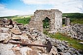 Ruins of a stone building, Arkengarthdale, North Yorkshire, England