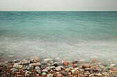 Lake Superior and rocky shoreline, near Thunder Bay, Ontario, Canada