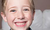 Portrait of a young boy, Spruce Grove, Alberta, Canada