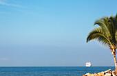 A cruise ship makes its way to port along the Mexican Riviera, Puerto Vallarta, Mexico