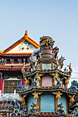 'Ornate structure in Baoan Temple park; Taipei, Taiwan'