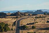 Highway No. 1 Through The Eroded Jurassic Sandstone Massif In Isalo National Park, Fianarantsoa Province, Madagascar