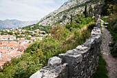 San Giovanni Fortress Surrounds The Town Of Kotor. The Walls Surrounding The Town Are 5 Kilometers Long And Can Be Up To Twenty Meters Tall., Montenegro