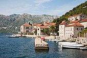 Panorama Of The Town Of Perast Along Kotor Bay, Montenegro