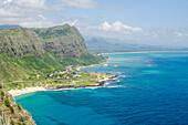Beach at Waimanalo Bay, Windward Coast, Oahu, Hawaii, United States of America, Pacific