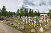 Signpost forest, Watson Lake, Yukon Territory, Canada, Summer