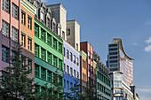 Quartier Schuetzenstrasse, postmodernist building by Aldo Rossi, corner of Charlottenstrasse and Zimmerstrasse, Berlin, Germany