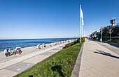 Beach promenade and border tower in Kuehlungsborn, Mecklenburg-Vorpommern, Ostsee, Germany