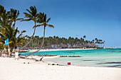 Kitesurfing beach at The Kite Club, Playa Blanca, Punta Cana, Dominican Republic, West Indies, Caribbean, Central America