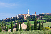 Pienza, Val d'Orcia Orcia Valley, UNESCO World Heritage Site, Siena Province, Tuscany, Italy, Europe