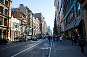 Street scene in Soho, Broadway, Manhattan, New York City, USA, America