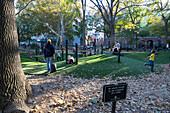 Playground for children, no adults except in the company of a child, in Washington Square Park, New York, Manhattan, New York City, USA, America