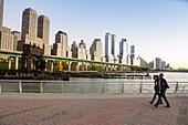 Riverside Park, Pier 1, Brightons Sunset, Lower West Side, Manhattan, New York City, USA, America
