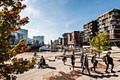 Magellan Terrassen mit Elbphilharmonie in der Hafencity Hamburg, Norddeutschland, Deutschland
