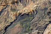 Colors and shapes typical for the high valley, high desert of Mustang, Nepal, Himalaya, Asia
