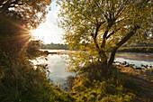 Ruhr river, near Hattingen, Ruhr area, North-Rhine Westphalia, Germany