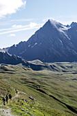 Runners during the UTMB (Ultra Trail du Mont-Blanc)