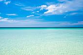 Blue sky and horizon over clear ocean water, Boracay Island, Aklan Province, Western Visayas, Philippines