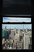 View over Midtown, theater district, Manhattan, New York, USA