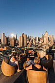 Rooftop Bar, Midtown, Manhattan, New York, USA