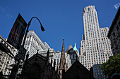 Trinity Church, financial district, Downtown, Manhattan, New York, USA