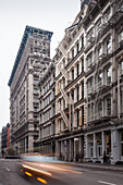 Art deco building,  Broome Street, Broadway, Soho, Manhattan, New York, USA