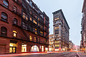 Broome Street, Broadway, Art deco building, Soho, Manhattan, New York, USA