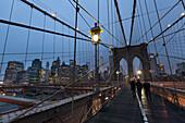Brooklyn Bridge, Downtown, Neues World Trade Center, Manhattan, New York, USA