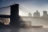 Brooklyn Bridge, Downtown, new World Trade Center, Manhattan, New York, USA