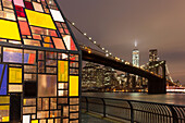 Brooklyn Bridge, Downtown, new World Trade Center, East River, Manhattan, New York, USA