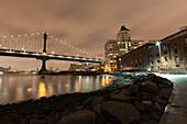 Manhattan Bridge, Clock Tower, Brooklyn, New York, USA