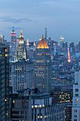 Art deco towers, skyscraper,  Manhattan, New York, USA