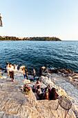 Restaurant along the Adriatic coast, Rovinj, Istria, Croatia