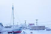 Tuktoyaktuk in wintertime, Inuvik region, Northwest Territories, Canada