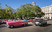 Old American cars in Havana, Cuba, West Indies, Caribbean, Central America