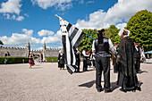 traditional costumes at Chateau de Bienassis, Erquy, Bretagne, France, Europe