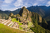 Machu Picchu Inca ruins and Huayna Picchu Wayna Picchu, UNESCO World Heritage Site, Cusco Region, Peru, South America