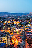 Landscape at Goreme, UNESCO World Heritage Site, Goreme, Cappadocia, Anatolia, Turkey, Asia Minor, Eurasia