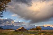 TA Moulton Barn, Mormon Row, Grand Tetons National Park, Wyoming, United States of America, North America