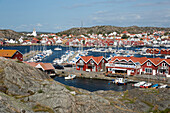 View over town and harbour, Skarhamn, Tjorn, Bohuslan Coast, southwest Sweden, Sweden, Scandinavia, Europe