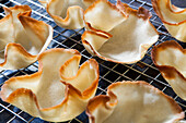Baked Tuiles, Close-Up