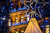 Christmas illuminations at the Jungfernstieg in Hamburg, north Germany, Germany