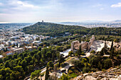 View of Athens and various landmarks, Athens, Greece