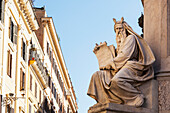 Statue of historical male figure, Rome, Italy