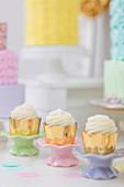 Rows of cupcakes on dessert table, Toronto, Ontario, Canada