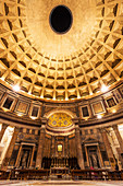 Interior of the Pantheon, arched vault, Rome, Italy