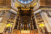 Papal Altar, St. Peter's Basilica, Rome, Italy