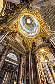 Ornate ceiling, St. Peter's Basilica, Rome, Italy
