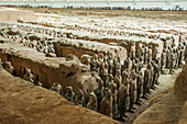 Xian´s Terracota Warriors, a collection of terracotta sculptures depicting the armies of Qin Shi Huang, the first Emperor of China, Xian, Shaanxi province, China