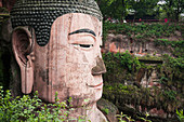 Giant Buddha from Leshan, the largest stone statue of Buddha around the world, 71 metres tall, Sichuan province, China